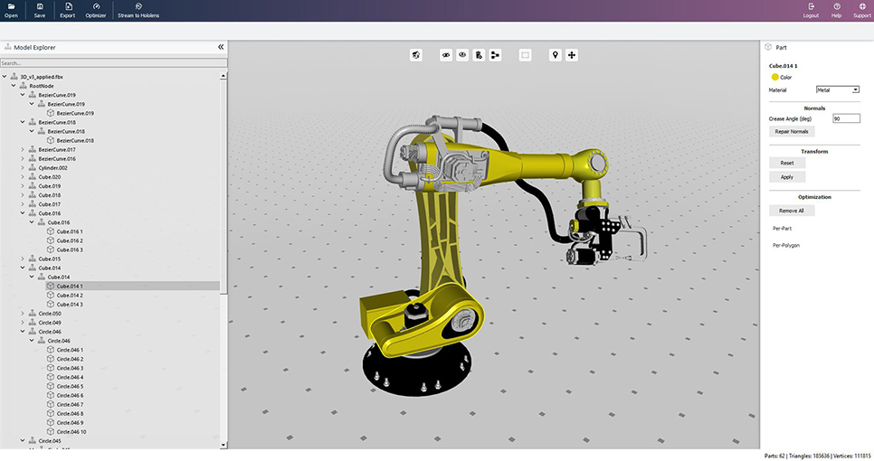3D CAD models for HoloLens and tablets ▷ VISCOPIC Polygons